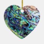 Detalle de la cáscara del olmo de Paua Ornamento Para Arbol De Navidad