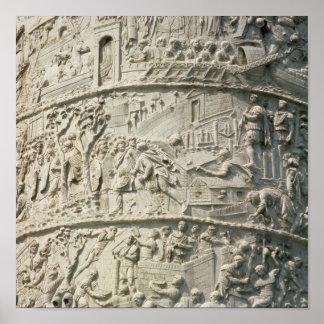 Detalle de la columna de Trajan Póster