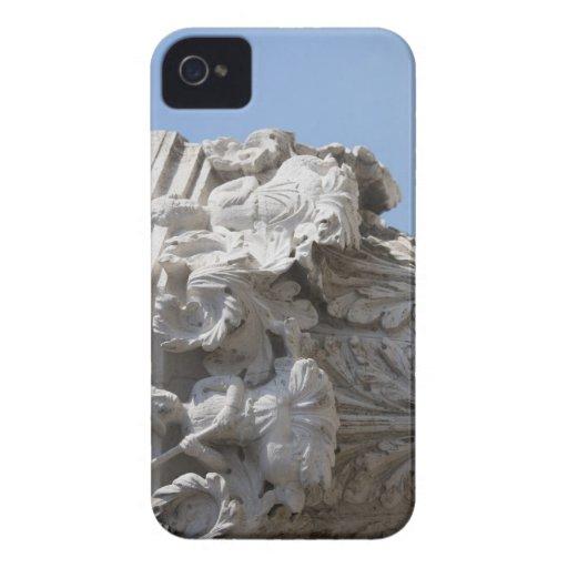 Detalle de la columna en el palacio Venecia Italia iPhone 4 Case-Mate Carcasas
