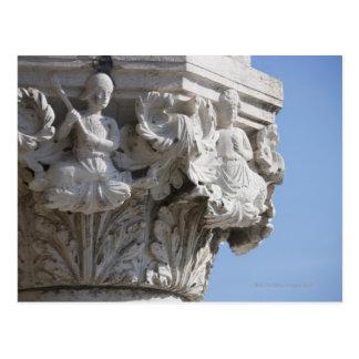 Detalle de la columna en el palacio Venecia Italia Tarjetas Postales