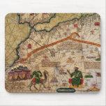 Detalle de la copia de un mapa catalán de Europa Tapete De Raton