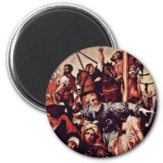 Detalle de la crucifixión por la loteria Lorenzo ( Imán De Frigorifico