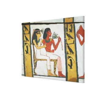 Detalle de la decoración de un sarcófago del L Impresiones De Lienzo