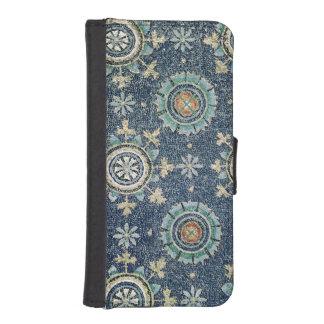 Detalle de la decoración floral de la cámara acora carteras para teléfono