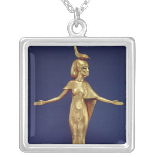 Detalle de la diosa Selket Colgante Cuadrado