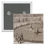 Detalle de la fuente de Diana y de Apolo en Versai Pin Cuadrada 5 Cm