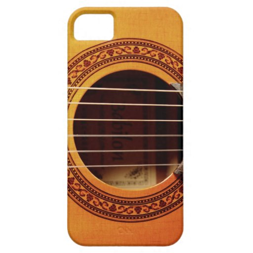 Detalle de la guitarra acústica iPhone 5 funda
