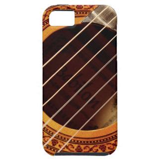 Detalle de la guitarra acústica iPhone 5 fundas