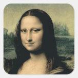 Detalle de la Mona Lisa, c.1503-6 Colcomanias Cuadradas Personalizadas