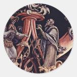 Detalle de la natividad de Grünewald Mathis Gothar Pegatinas Redondas