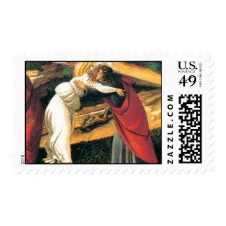 Detalle de la natividad mística de Botticelli Sello