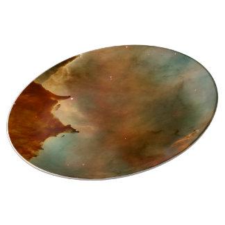 Detalle de la nebulosa de Carina Plato De Cerámica