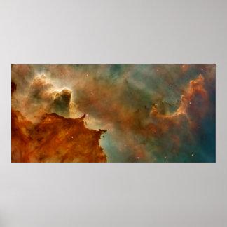 Detalle de la nebulosa de Carina Póster