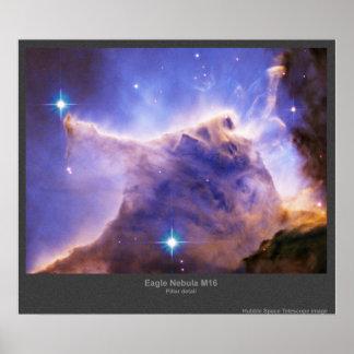 Detalle de la nebulosa de M16 Eagle Póster