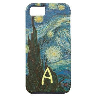 Detalle de la noche estrellada de Van Gogh iPhone 5 Funda