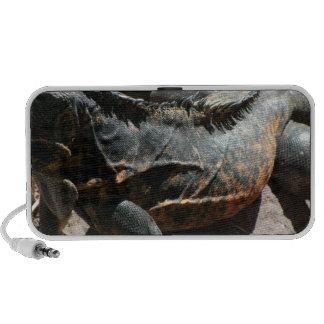 Detalle de la piel de la iguana portátil altavoz
