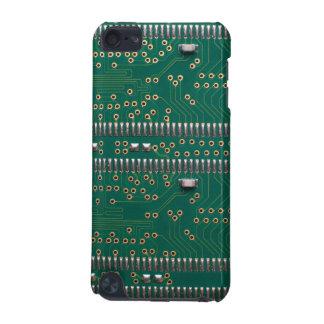 Detalle de la placa de circuito del chip de memori funda para iPod touch 5G