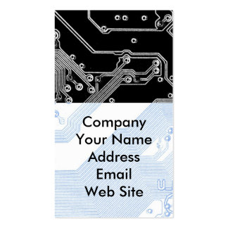 Detalle de la placa madre del ordenador tarjetas personales