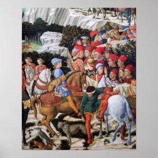 Detalle de la procesión de uno de los reyes magos  póster