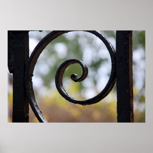 Detalle de la puerta del hierro de Charleston Impresiones