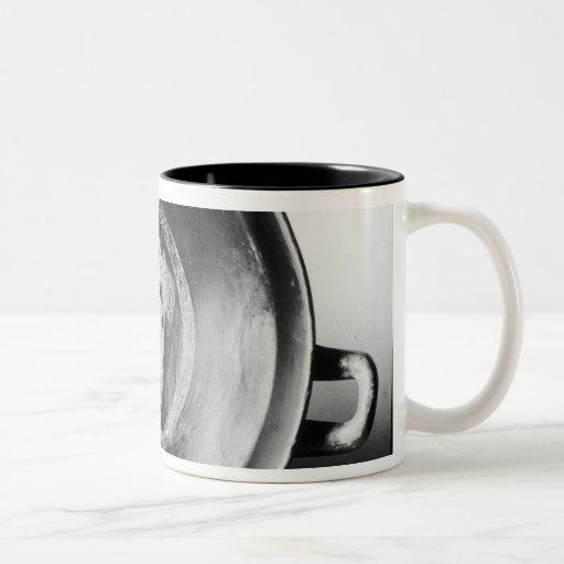 Detalle de la rojo-figura kylix del ático tazas de café