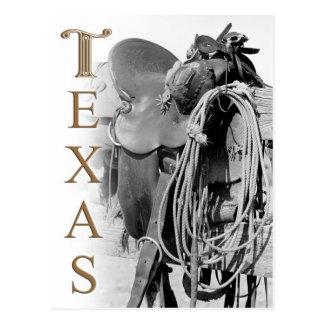 Detalle de la silla de montar de un vaquero en Tej Tarjetas Postales