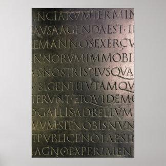 Detalle de la tabla de Claudian Poster
