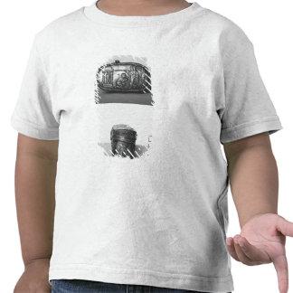 Detalle de la tapa de un pyxide camiseta