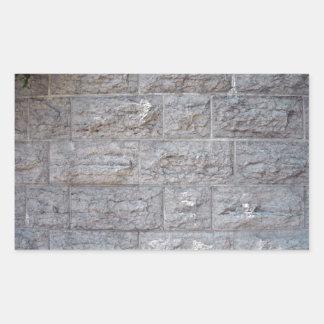 Detalle de la textura de la pared de piedra rectangular pegatinas