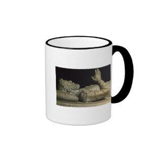 Detalle de la tumba tazas de café