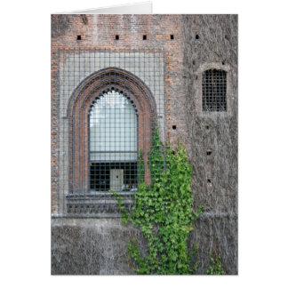 Detalle de la ventana tarjeta de felicitación