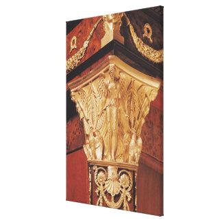 Detalle de la victoria coa alas lienzo envuelto para galerías