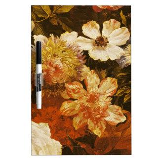 Detalle de las flores (aceite en lona) pizarra