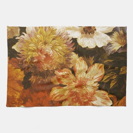 Detalle de las flores (aceite en lona) toalla de cocina