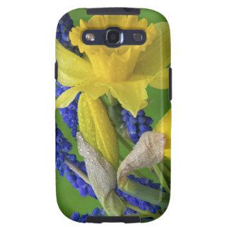 Detalle de las flores del narciso y del jacinto. C Samsung Galaxy SIII Funda