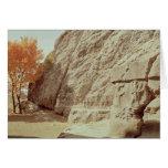 Detalle de los alivios que representan a mil diose tarjeta de felicitación