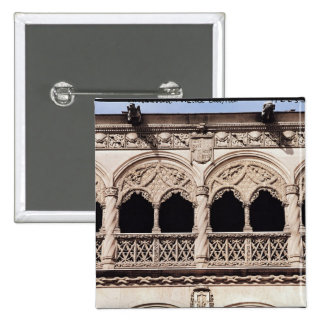 Detalle de los arcos de la logia, 1488-96 pin cuadrada 5 cm