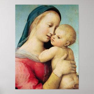 """Detalle de los """"tempos"""" Madonna, 1508 Poster"""