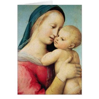 """Detalle de los """"tempos"""" Madonna, 1508 Tarjeta De Felicitación"""