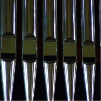 Detalle de los tubos de órgano fotoescultura vertical