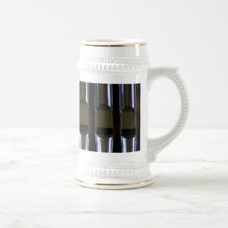Detalle de los tubos de órgano taza de café