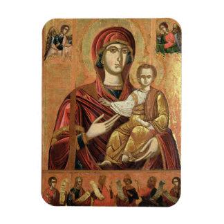 Detalle de Madonna y del niño del Iconostas Iman