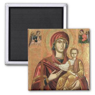 Detalle de Madonna y del niño del Iconostas Imán Cuadrado