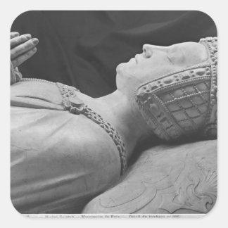 Detalle de Marguerite de Foix Calcomanías Cuadradass