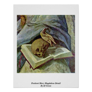 Detalle de Maria Magdalena del Penitent de El Grec Poster