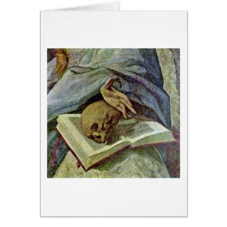 Detalle de Maria Magdalena del Penitent de El Grec Tarjeta