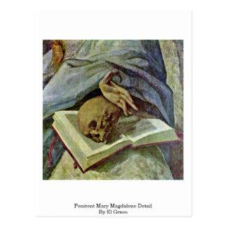 Detalle de Maria Magdalena del Penitent de El Grec Tarjeta Postal