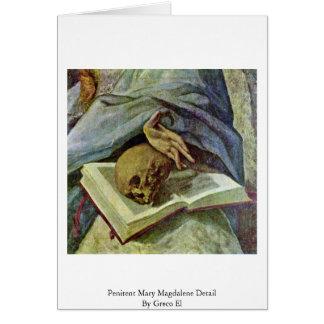 Detalle de Maria Magdalena del Penitent por el EL  Tarjetas