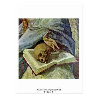 Detalle de Maria Magdalena del Penitent por el EL  Postales