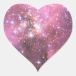 Detalle de NGC 346 en rosa Colcomanias De Corazon Personalizadas
